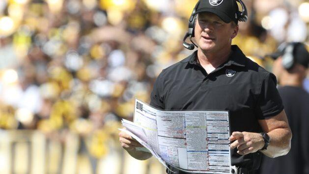 Jon Gruden resigns as Raiders coach